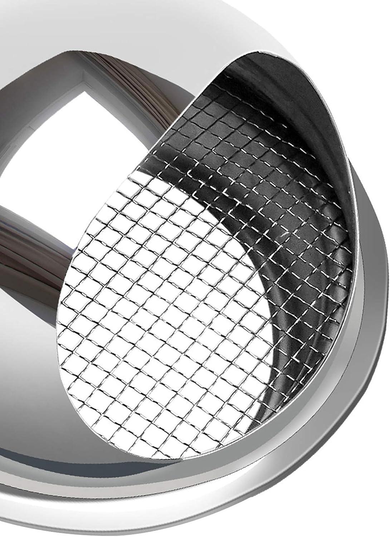 Sombrero Extractor Acero Inoxidable Redonda Impermeable Pared Exterior Tubo De Escape Lluvia Y Nieve Al Aire Libre Tapa Protectora,160mm