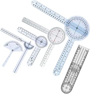 Goniometer Joint Range of Motion Protractor, 6 pcs/set Angle Medical Ruler Plastic. 12