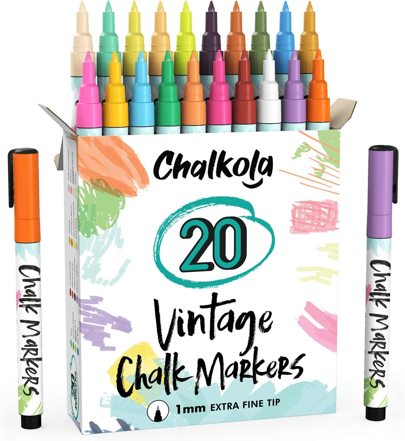 Japan's largest assortment Extra Fine Tip Liquid Regular discount Chalk Markers Chalkboard 20 C for Vintage