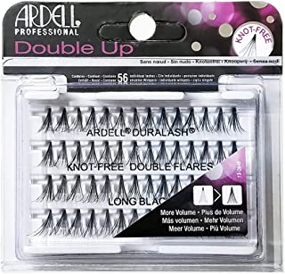(6 Pack) ARDELL Professional Double Individuals Knot-Free Double Flares - Long Black