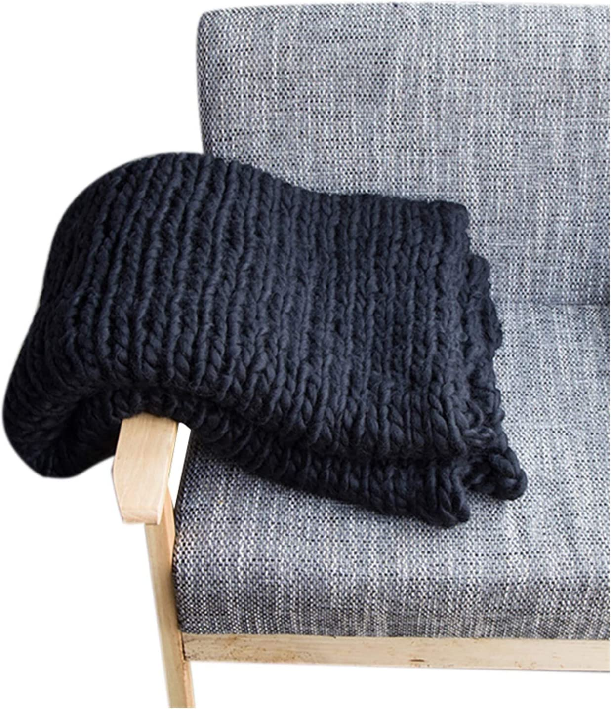 JDJD Hand Knitted Chunky Blanket Free Shipping Cheap Bargain Gift Bulky High quality Yarn Wool Thick Weighted