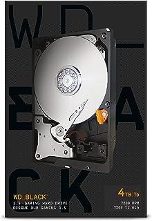 WD_BLACK Disque dur interne 3,5'' haute performance 4To - Classe 7200 RPM, SATA 6Gb/s, cache de 256Mo