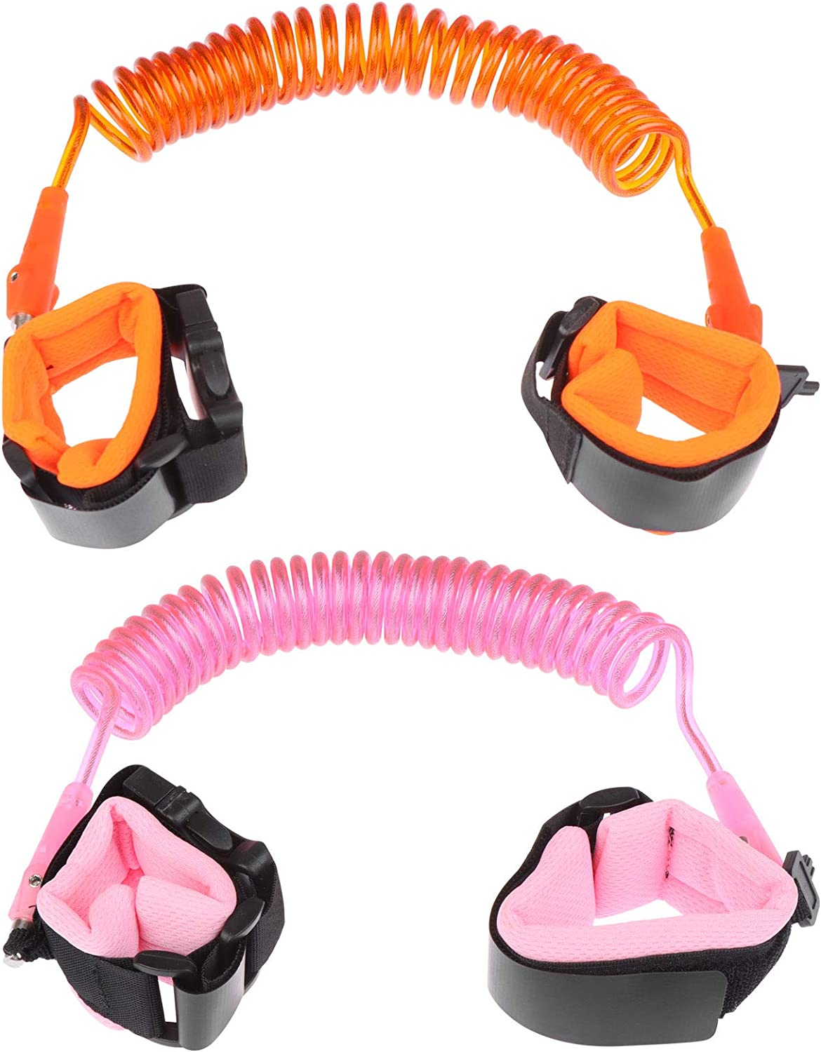Haodeba 2 Pcs Anti-Lost Wristband, 8.2ft Wrist Link for Toddler, Anti-Lost Rope Belt