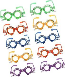 814e452b55 MagiDeal 10 Piezas Lente de Prueba Óptica Marco de Gafas Optometría Equipo  Óptico