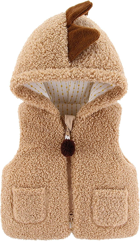 Topics on TV Jchen Girls Boys Fleece Cute Ear Vest Zipper Warm Hooded specialty shop Jacket