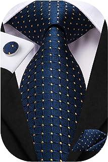 ست کت و شلوار کت و شلوار مردانه Dubulle Paisley Necktie for Men Pocket Square Cufflinks Formal Silk