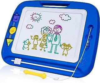 SGILE Pizarra Magnética Infantil, 42x33cm Grande Magnético Pintura de la Escritura Doodle Sketch Pad, Juguetes para Niños Infantiles