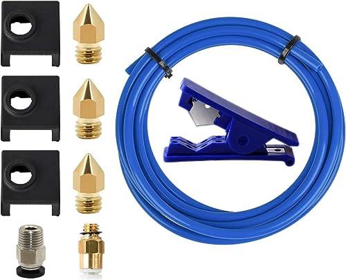 LEOWAY Upgrade 2 Meters PTFE Bowden Tubing Kit for 1.75mm Filament for Creality Ender 3 Ender 3 Pro Cr-10 3D Printer