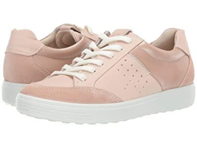 ECCO Soft 7 Leisure Sneaker (Rose Dust/Rose Dust/Powder Suede/Cow Leather/Cow Leather) Women