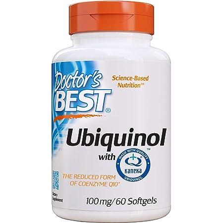 Doctor's Best, Ubiquinol, con Kaneka, 100 mg, 60 Cápsulas blandas, sin soja, sin gluten