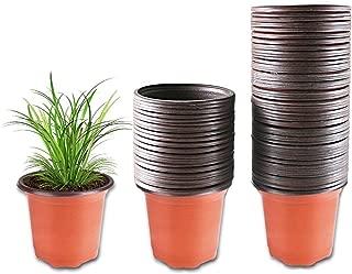 Plastic Plant Pot 100 Pack Flower Nursery Pots Starter Pot for Seedling Little Garden Pots to Repot Succulents and Small Plants
