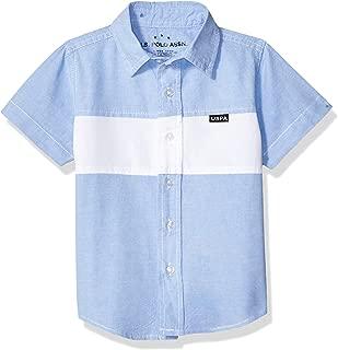 U.S. Polo Assn. Boys Short Sleeve Chambray Fashion Woven Shirt Short Sleeve Button Down Shirt