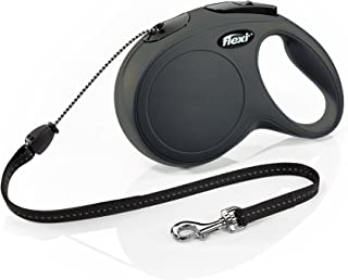 Flexi New Classic Retractable Dog Leash, Medium-26 Cord(26-44lbs), Black