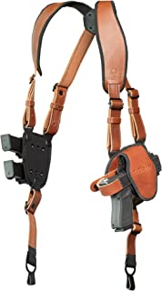 Alien Gear ShapeShift Shoulder Holster (Brown Leather) for Concealed or Open Carry - Custom Fit to Your Gun (Select Pistol Size) - Right or Left Hand - Made in The USA