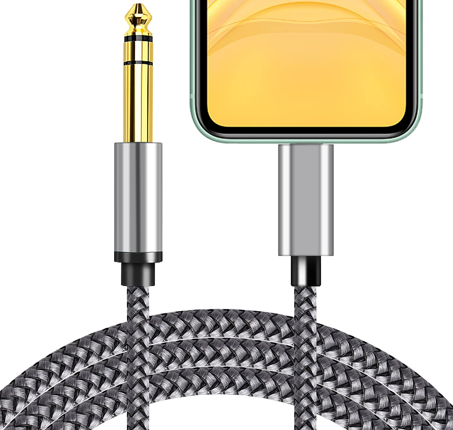 6.6ft 1 Mail order 4'' TRS Audio Stereo Phone lowest price Aux Cable Male 6.35mm for