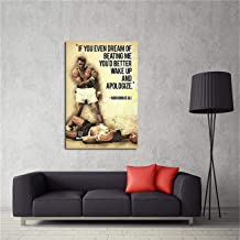Modern Wall Art Painting Muhammad Ali Quotes If You Even Dream Of Beating Me Posters Gifts Picture Printed Canvas Artist Home Decor Artwork For Living Room Bed Room Men Wall Decoration No Frame