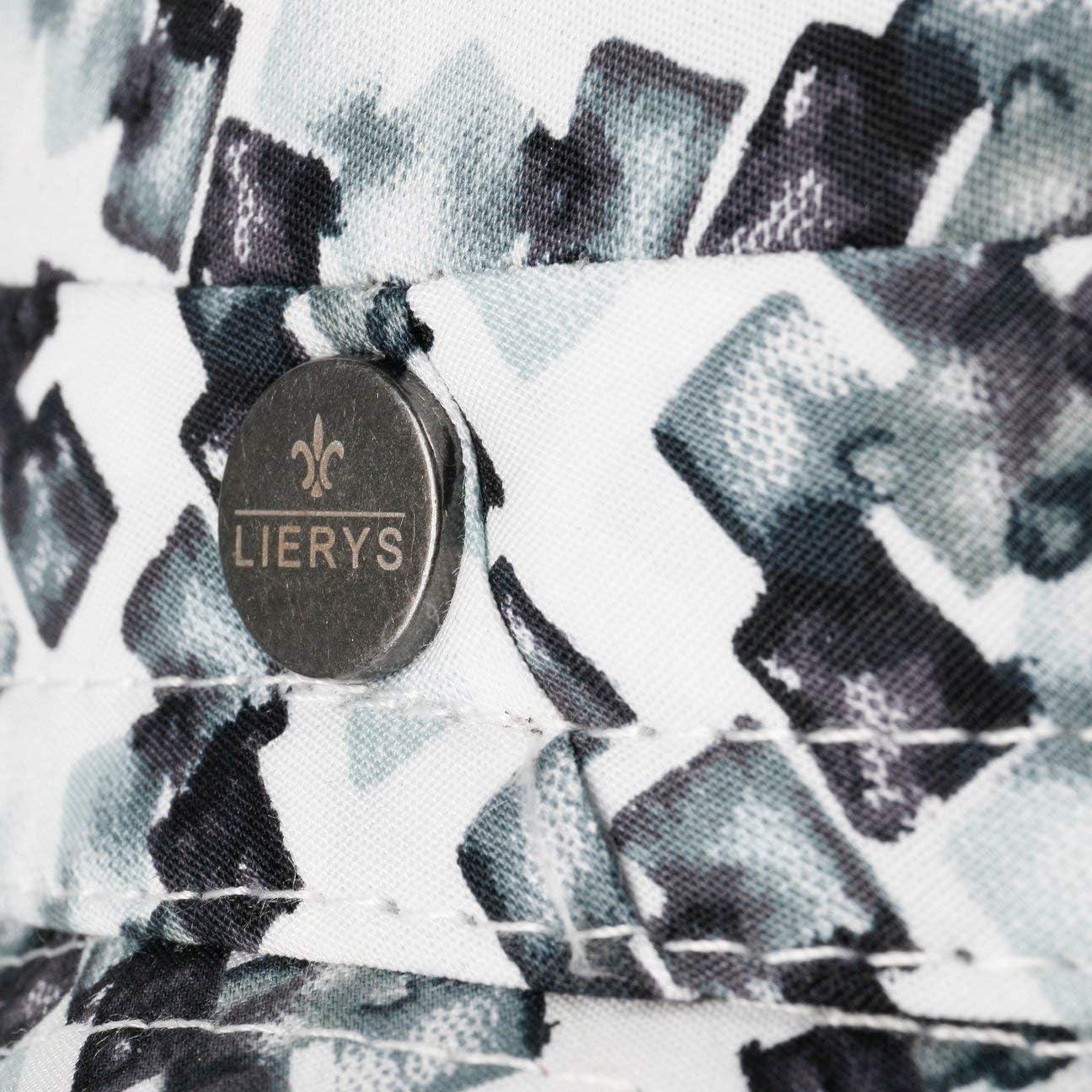 Lierys Cappello di Tessuto Pixels Pork Pie Uomo Made in Italy da Sole Cotone con Fodera Primavera//Estate
