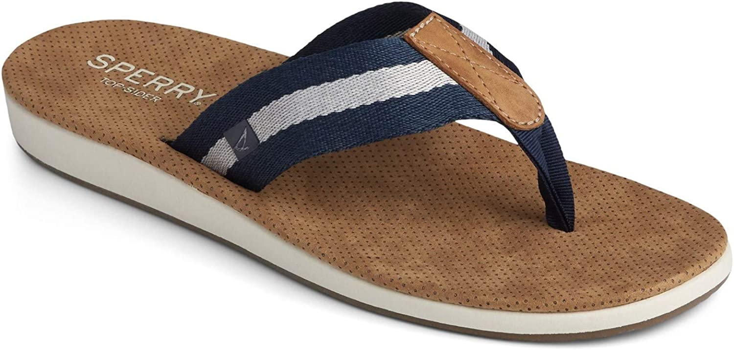 Price reduction Sperry Some reservation Men's Bayside Webbing Thong Sandal M 8 Navy