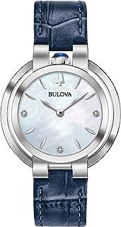 Bulova - Reloj Analógico para Mujer de Cuarzo con Correa en Cuero 96P196