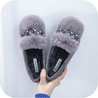 Cotton Scoop Shoes Woman Korean Big Rhinestone Luxury Design peas Flat Loafers Mujer modis Espadrilles Female Comfy