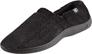 Men's Terry Moccasin Slipper with Memory Foam for Indoor/Outdoor Comfort and Arch Support