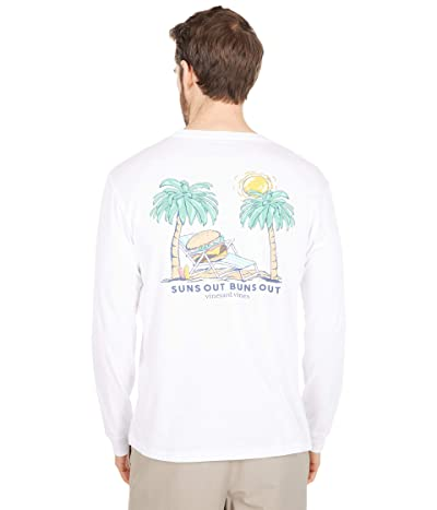 Vineyard Vines Long Sleeve Suns Out Buns Out Pocket T-Shirt