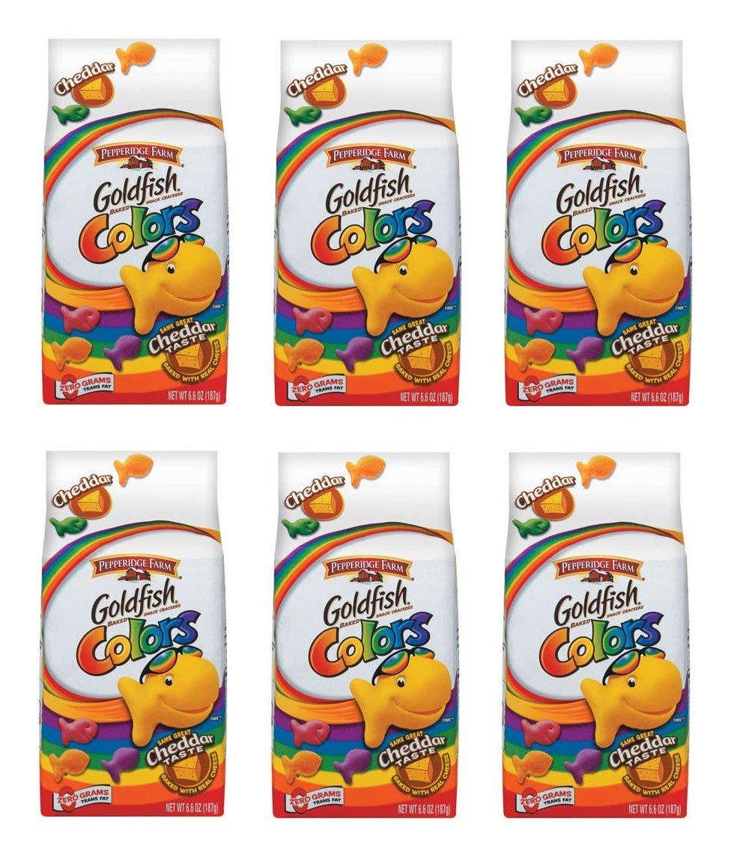 Pepperidge Farm Ranking TOP8 Goldfish Baked Snack of Crackers Colors: Packs Cheap bargain 6