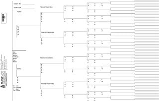 Seven Generation Ancestor Chart