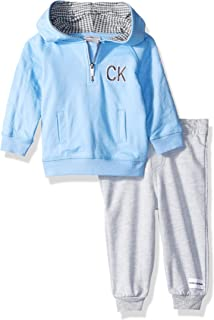 Calvin Klein Baby Boys 2 Pieces Hooded Jog Pant Set