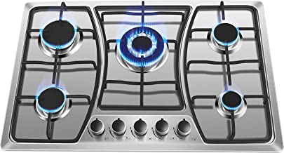 30 inch Gas Stove Cooktop with 5 Burner Built-in Gas Cooker NG LPG Convertible Stainless Steel Gas Cooktop 5 Italy Sabaf Sealed Burners for Home Kitchen Thermocouple Protection Use Easy to Clean – forimo