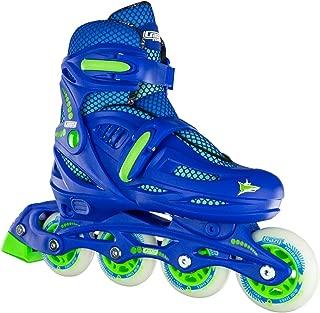 Crazy Skates Adjustable Inline Skates for Boys - Beginner Kids Roller Blades (Model 148)
