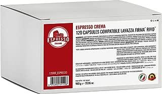 Lavazza Keurig Rivo compatible capsules, Espresso Italiano pods (Espresso Crema, 120 Pods)