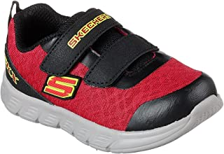 Skechers 95037N 幼儿舒适弹力 - Double Sprint 鞋,红色/黑色 - 11