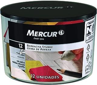 Borracha, Mercur B01010601027, Multicor, Pacote de 12