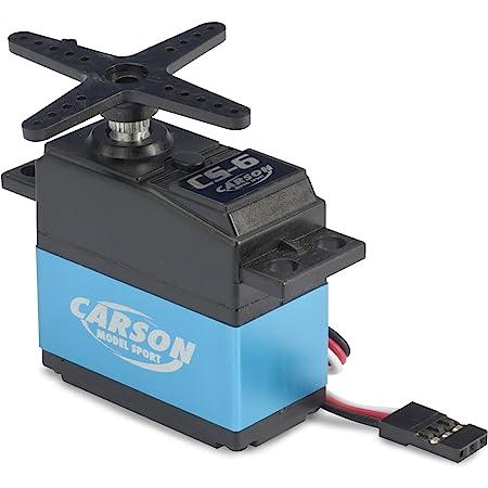 Carson CS-6-connecteur 6 kg/JR-Accessoires pour Voitures télécommandées, servomoteur, Direction Puissant et servo, modélisme, 500502036, Bleu