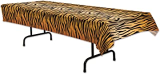Beistle 54063 Tiger Print Table Cover, 54