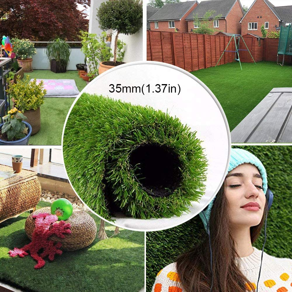 SENFAN Realistic Artificial SALENEW very popular Grass Mat 4-Tone Thick Outdoor Year-end gift Turf