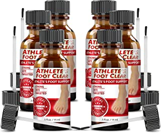 Athlete's Foot Clear - The Best Choice for Athlete's Foot Relief - 6 Bottles
