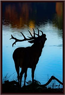 The Artist Wildlife Deer Shadow HD Print Wall Art Framed Painting Without Glass for Living Room, Bedroom, Offices and Hote...