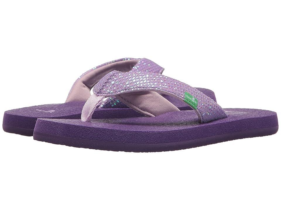 Sanuk Kids Yoga Glitter (Little Kid/Big Kid) (Purple) Girls Shoes
