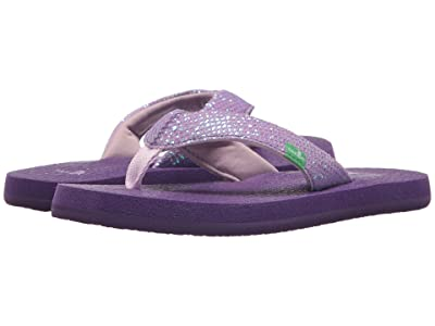 Sanuk Kids Yoga Glitter (Little Kid/Big Kid) (Purple) Girls Shoes