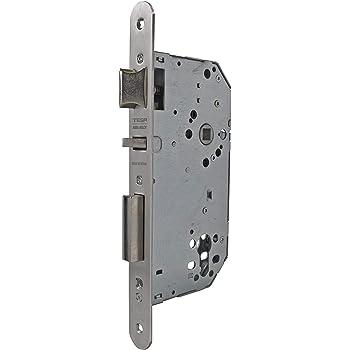 Tesa Assa Abloy 403050HL Cerradura de embutir para puertas de madera, Entrada 50mm, sin cilindro incluido, Acero Latonado: Amazon.es: Bricolaje y herramientas