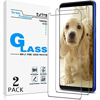 KATIN Galaxy A9 2018 Screen Protector - [2-Pack] Tempered Glass for Samsung Galaxy A9 (2018) Bubble Free with Lifetime Replacement Warranty
