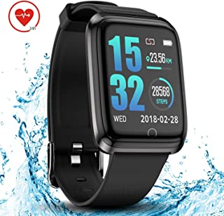 DoSmarter Smartwatch IP68 Waterproof Running Fitness Activity Tracker Watch with 1.3 Inches Color Screen, Heart Rate Monitor Wrist Watches with Sleep Tracker for Woman Man Kids