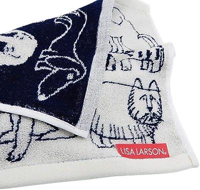 丸眞 ハンドタオル Lisa Larson リサ・ラーソン 34×36cm スケッチドッグ 6805007500