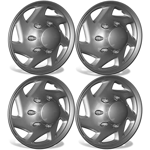 OxGord 16 inch Hubcaps Best for 2007-2014 Ford E-150 - (Set