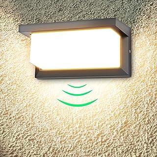 18W Aplique de pared exterior LED con detector de movimiento aplique led exterior 3000K blanco cálido 1260lm Impermeable IP65