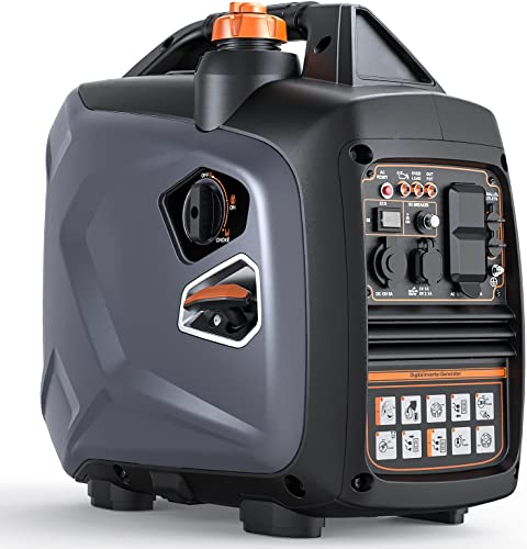 lowest Portable Power Station with Gas, outlet online sale Super Quiet Outdoor Gas Inverter Generator,Power Station for Home Emergency 2021 Back-Up Camping Travel Hunting outlet sale