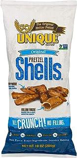 Unique Pretzels Shells, Homestyle Baked, Vegan, 6 Bags, Original 10 Ounce