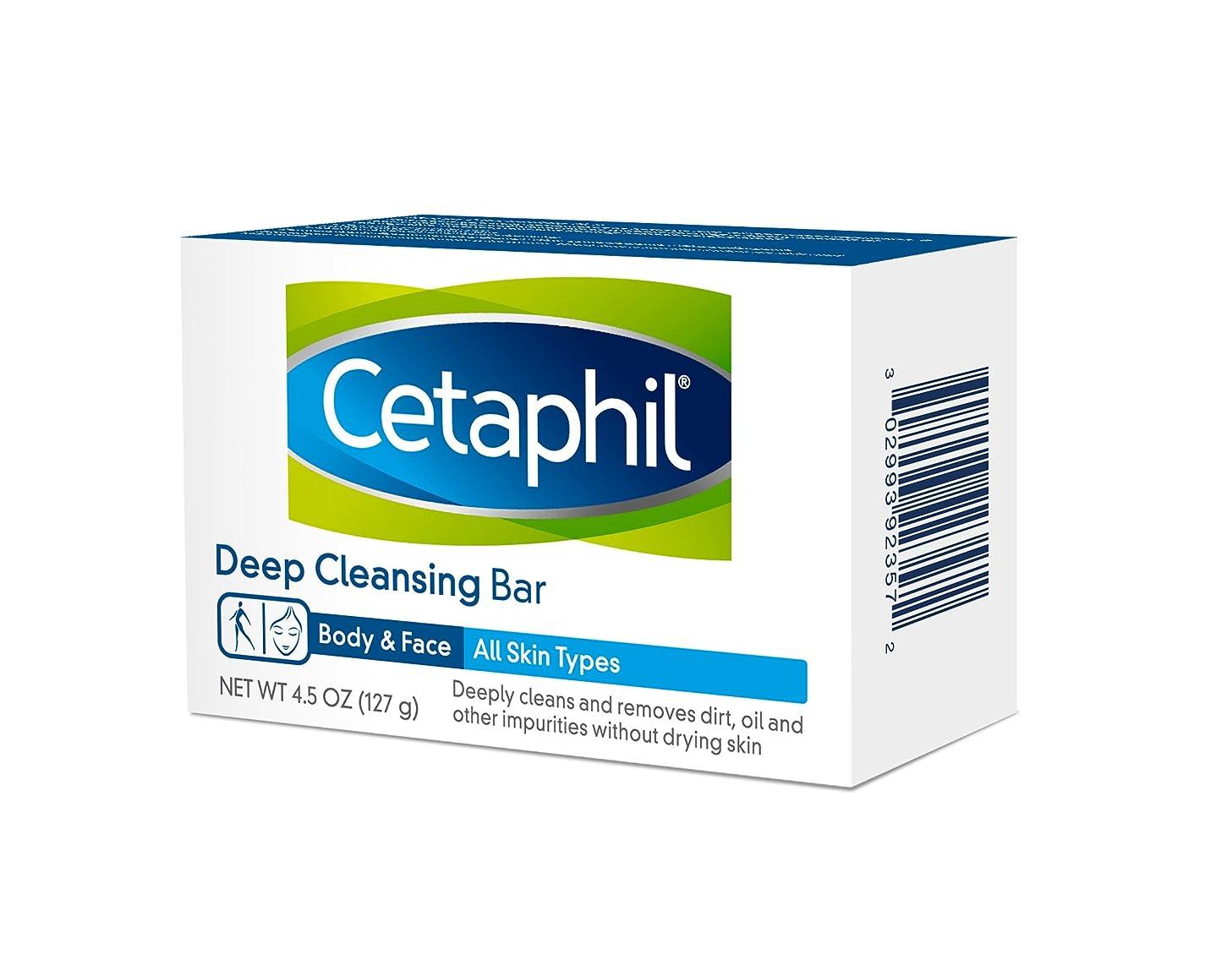 薄いお風呂王女Cetaphil Deep Cleansing Face Body Bar for All Skin Types 127g×6個セット 並行輸入品